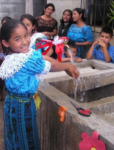 United by Friendship water project provides water to grateful kids.
